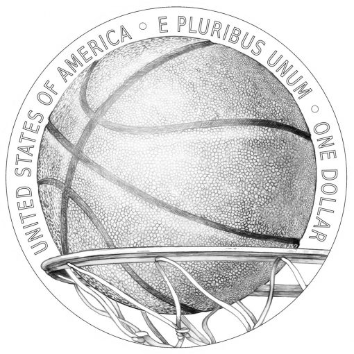 Reverse Design for 2020 Basketball HOF Commemorative Coins