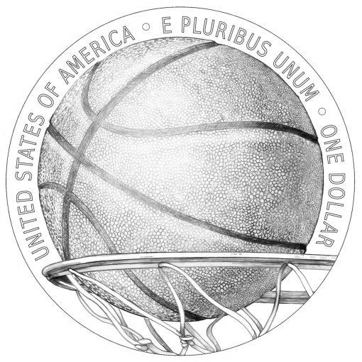 Reverse Design for 2020 Basketball HOF Commemorative Coins