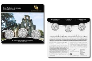 San Antonio Missions for Texas in Three-Coin Set