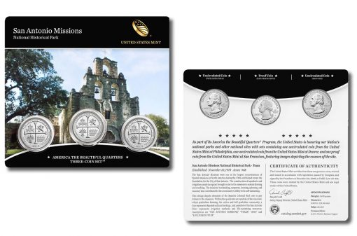 San Antonio Missions Quarters Three-Coin Set