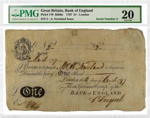 PMG Certified Over 200 English Banknotes For Manzi Collection Sale, Part II