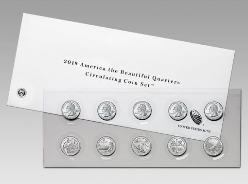 2019 America the Beautiful Quarters Circulating Coin Set
