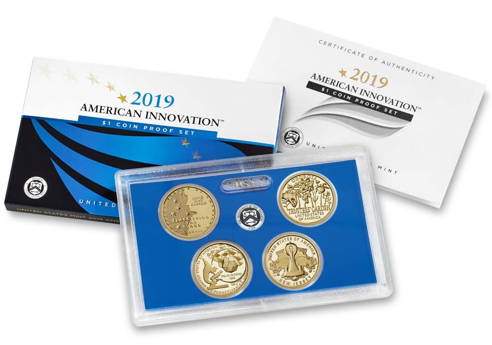 2019 P/&D SET AMERICAN INNOVATION NEW JERSEY TWO UNCIRCULATED DOLLARS