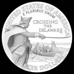 George Washington Crossing the Delaware River Quarter Designs