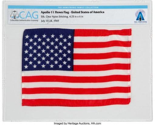 Apollo 11 Flown American Flag