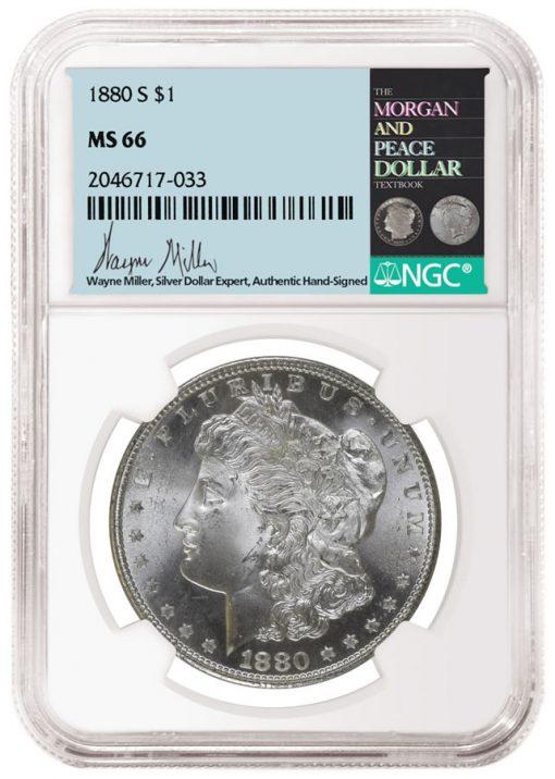 Wayne Miller NGC label and coin