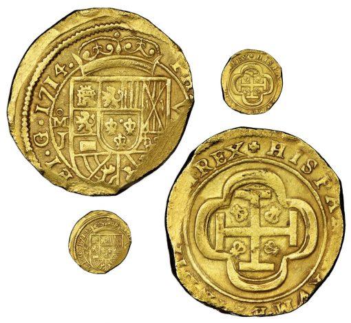 gold cob 8 escudos dated 1714