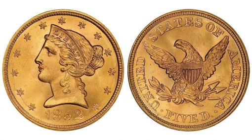 Lot 173: 1852 Half Eagle
