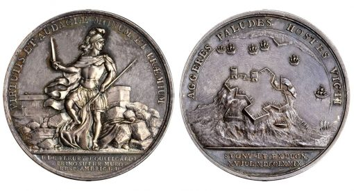 1779 De Fleury at Stony Point medal in silver