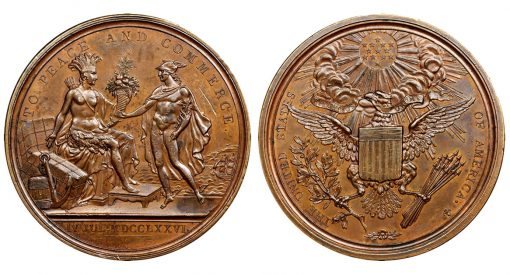 1792 United States Diplomatic Medal.