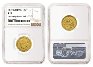UK's Royal Mint Selected NGC To Certify Rare 1819 George III Sovereign
