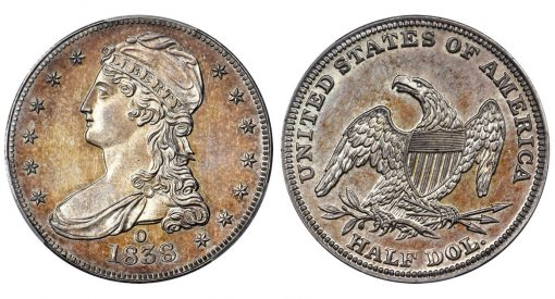 1838-O Capped Bust Half Dollar