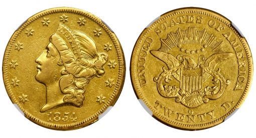 1854-O Liberty Head Double Eagle