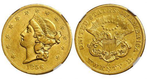 1856-O Liberty Head Double Eagle