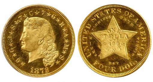 1879 Four-Dollar Gold Stella