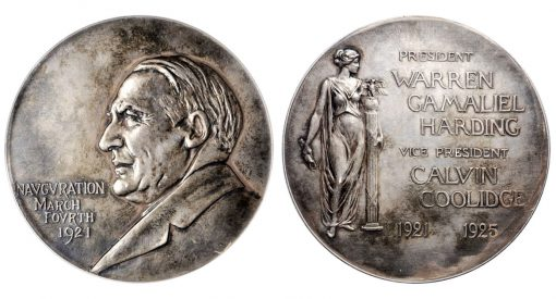 1921 Harding Inaugural medal in silver