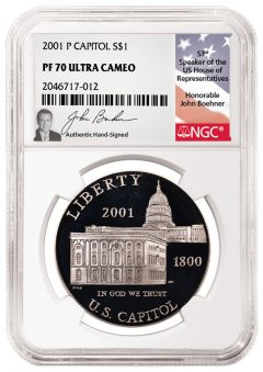 Former House Speaker Boehner To Autograph NGC Labels