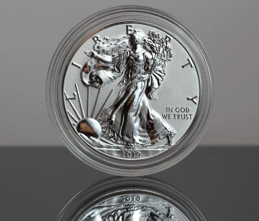 2019-W Enhanced Reverse Proof American Silver Eagle - Obverse