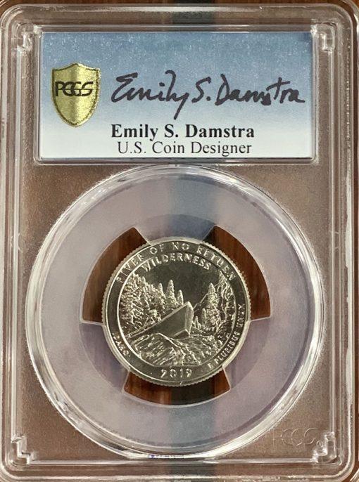 Emily Damstra signed PCGS encapsulation insert