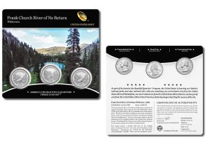 Frank Church River of No Return Wilderness Quarter for Texas in Three-Coin Set