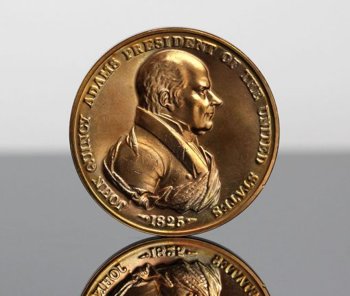 John Quincy Adams Presidential Bronze Medal - Obverse