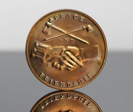 John Quincy Adams Presidential Bronze Medal - Reverse