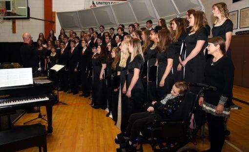 Members of the Salmon High School Legacy Choir