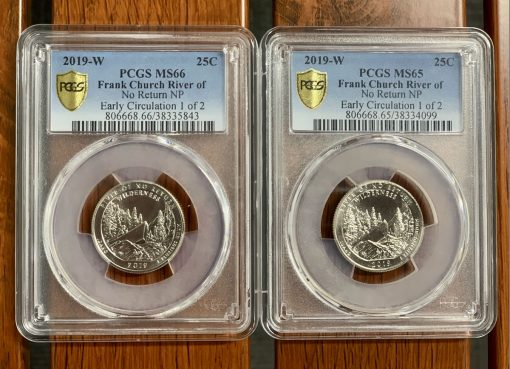 PCGS Early Circulation 2019-W Frank Church River of No Return Wilderness quarters