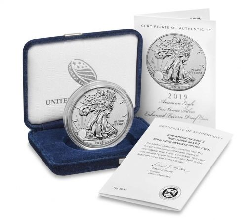 U.S. Mint product images of 2019-S Enhanced Reverse Proof American Silver Eagle
