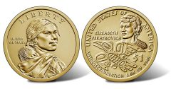 2020 Native American $1 Coin images - obverse and reverse