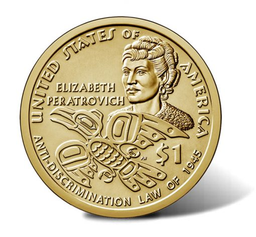 2020 Native American $1 Coin images - reverse