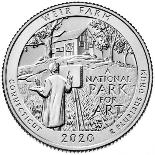 2020 Weir Farm National Historic Site Quarter