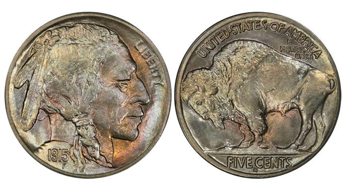 Lot 220 - 5C 1915-S PCGS MS67 CAC realized $55,812.50