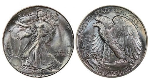 Lot 353 - 50C 1943-S PCGS MS67+ CAC realized $52,875