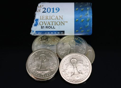 Roll of Opened 2019-P American Innovation Dollars for New Jersey