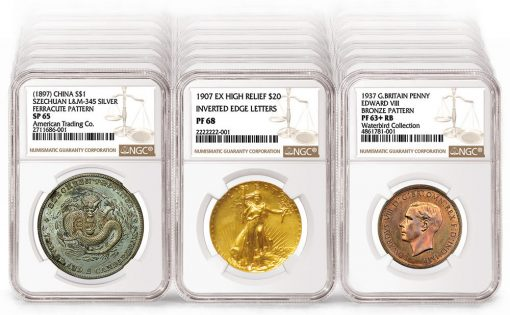 Three of the over 45 million coins graded by NGC