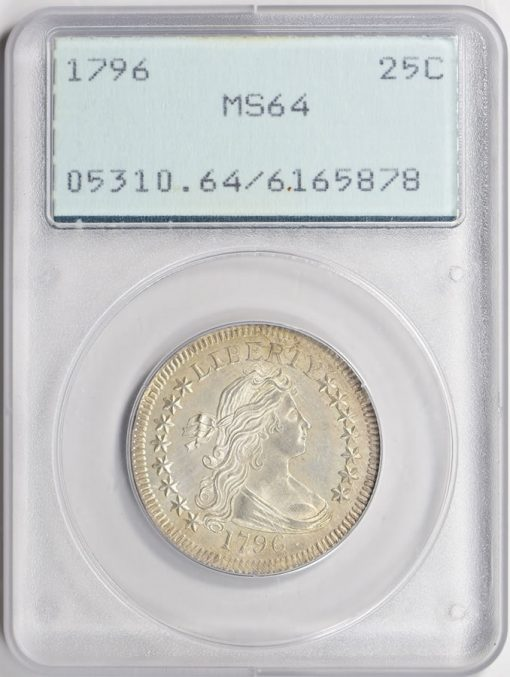 1796 Draped Bust Quarter PCGS MS-64 realized $303,750