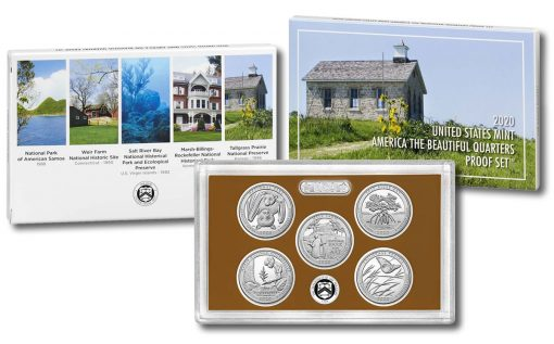 2020 America the Beautiful Quarters Proof Set - Collage Image