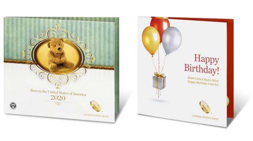 2020 Birth Set and 2020 Happy Birthday Coin Set