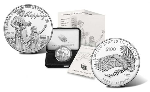 2020-W Proof American Platinum Eagle Coin, Case, Cert