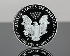 2020-W Proof American Silver Eagle - Reverse