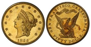 1855 Proof Kellogg Gold Coin Sold For Record $1 Million