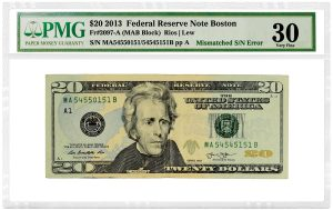 PMG Certifies $20 Note With Mismatched Serial Number