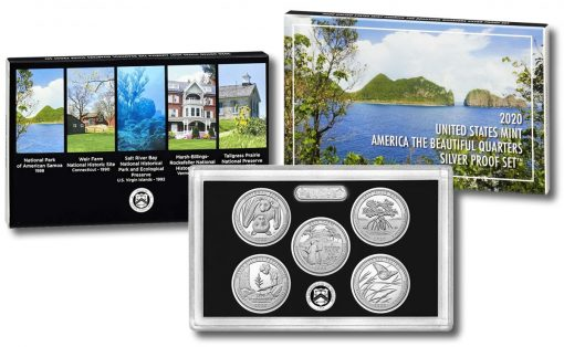 2020 America the Beautiful Quarters Silver Proof Set - Collage Image
