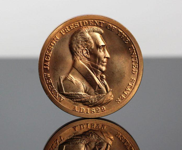 Andrew Jackson Presidential Bronze Medal - Obverse
