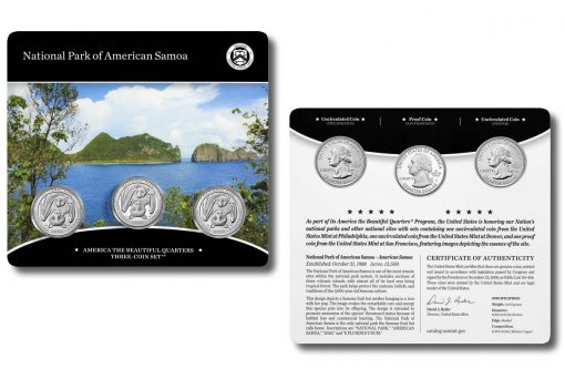 National Park of American Samoa Quarters Three-Coin Set