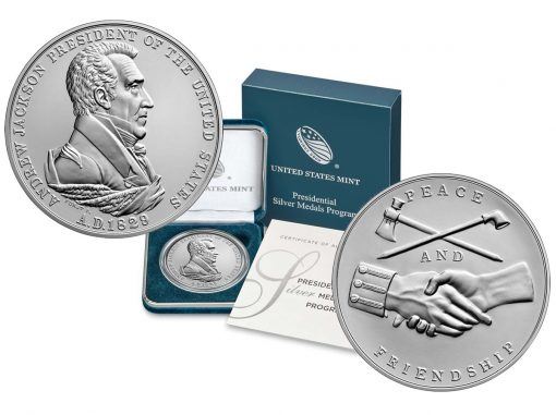 Product images of Andrew Jackson Presidential Silver Medal