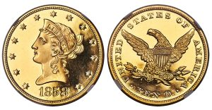 Legendary 1858 Gold Coin Highlights Heritage April Sale