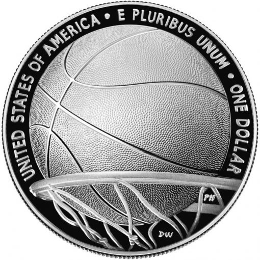 2020-P Proof Basketball Hall of Fame Silver Dollar - Reverse
