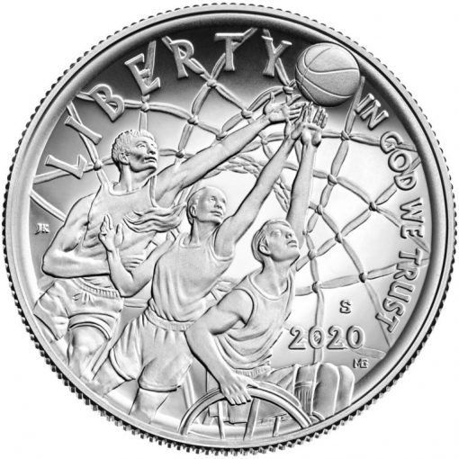 2020-S Proof Basketball Hall of Fame Half Dollar - Obverse